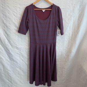 NEW Lularoe Nicole 3/4 sleeve dress size XL